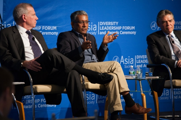 L to R: J. Frank Brown, Managing Director & Chief Operating Officer, General Atlantic; Ravi Venkatesan, Director of Boards, Infosys & AB Volvo; John W. Conover IV, Senior VP & President, Ingersoll Rand