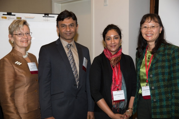 L to R: Kathryn Komsa, Advisor Global Talent & Diversity Council, Asia Society; Vipul Sheth, Global VP of Quality, Coronary, Hypertension, Medtronic; Deepa Purushothanman, Principal, Deloitte; Kimberly Marcelis, VP, Strategic Planning, Cisco Systems
