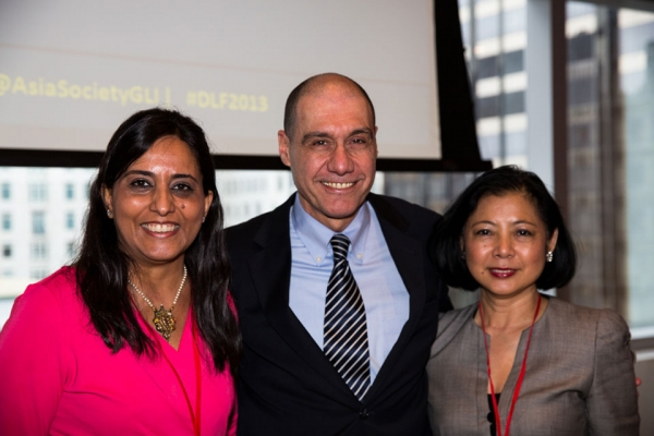 Left to right: Ruby Sharma, Gustavo Viano, Anne Lim O'Brien