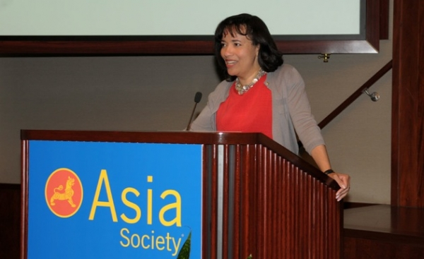 Pamela Thomas-Graham, Chief Talent, Branding and Communications Officer, Credit Suisse, welcomes Forum participants.