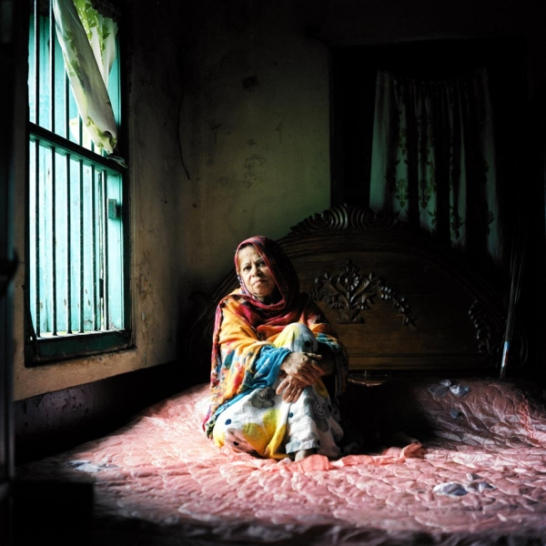 Rokeya Sultana Shila worked in a hospital in India where they treated injured fighters. She criticizes the political elite for assuming power after the war. (Elizabeth Herman)
