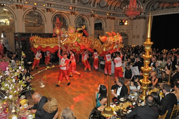 Dragon dance performers at the Asia Society Awards Dinner 2010.