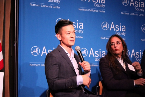 Assemblymember Evan Low of the California State Assembly traveled up from the 28th District to participate in the event. (Yiwen Zhang/Asia Society)