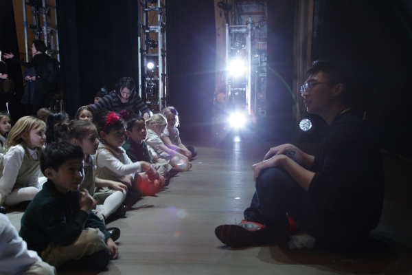 Students from HudsonWay Immersion School at Lincoln Center in New York/Lei Wang from Xinhua