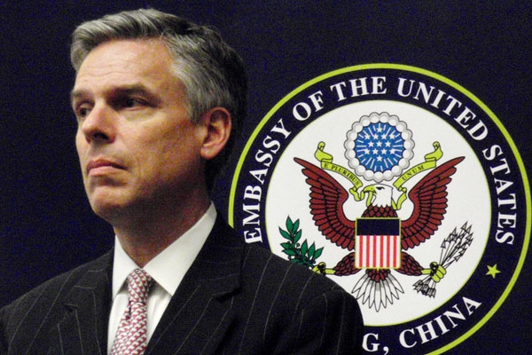 Jon M. Huntsman, Jr., during his time as U.S. Envoy to China. March 8, 2010. (saucy_pan/Flickr)