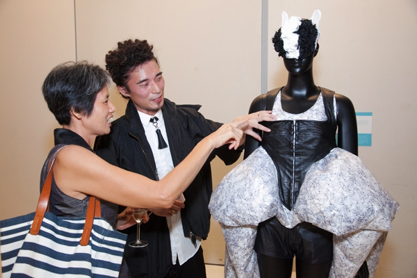 Designer Yeung Chin explains the concept behind his inflatable garments.