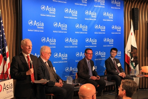 N. Bruce Pickering, Executive Director ASNC, welcomes the panelists. (Asia Society)