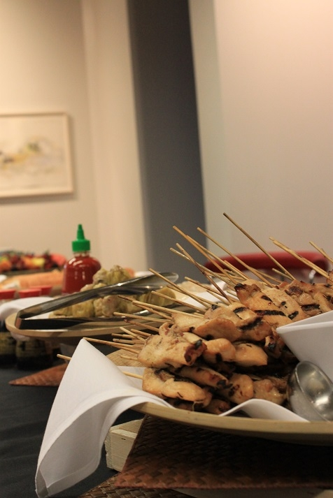 The reception featured Asian classics like dim sum and satay. (Asia Society)
