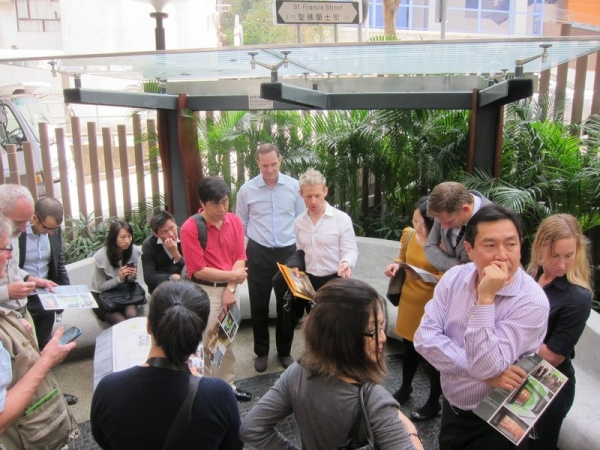 Forum participants also toured Hong Kong's Old Wanchai district.