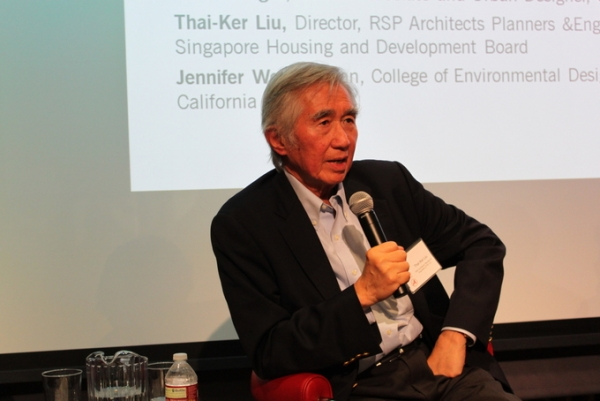 Thai-Ker Liu keynoted the launch event for a new Asia Society/ULI report in San Francisco. (Asia Society)