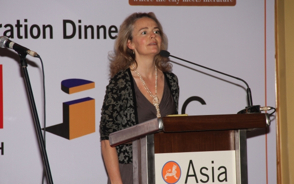 Justine Hardy, founder, Healing Kashmir. (Asia Society India Centre)
