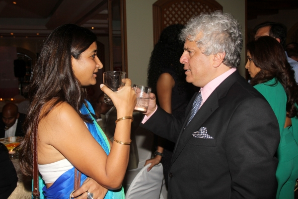 "Author of ""The Music Room"" Namita Devidayal (L) and columnist Suhel Seth (R). (Asia Society India Centre)"