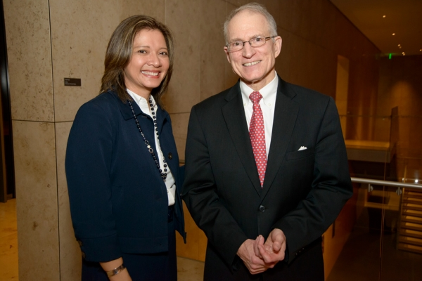 Asia Society Texas Center Executive Director Bonna Kol and Ambassador Chase Untermeyer. (Jeff Fantich)