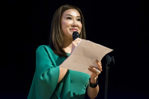 Mandy Kao delivered a brief introduction about Mina Chang (Jeff Fantich)