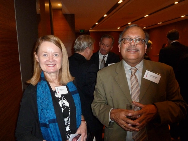 L to R: Jennie Lang, the University of New South Wales and Asia Society Australia Board Member, with Arun Kumar Goel, Consul-General of India. (Asia Society Australia)