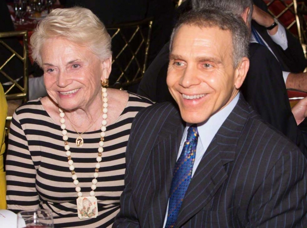 Asia Society Trustee Mitchell Julis (R) and his mother, Thelma Julis (L). (Bennet Cobliner)