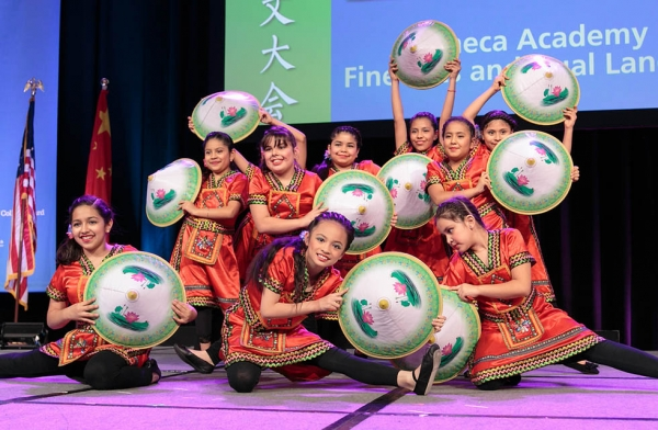 Students from Calmeca Academy of Fine Arts and Dual Language. (David Keith)