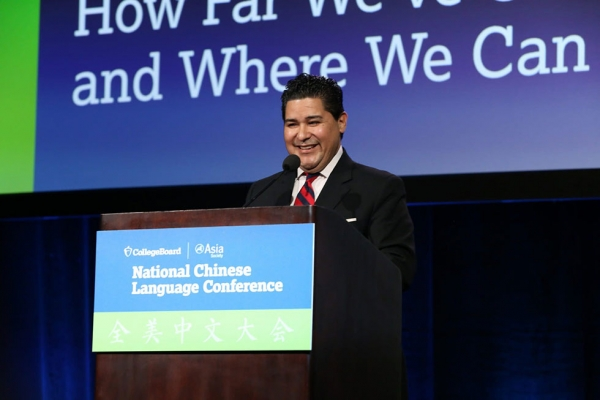 Houston Independent School District Superintendent Richard A. Carranza speaks at the first plenary session. (David Keith/David Keith Photography)
