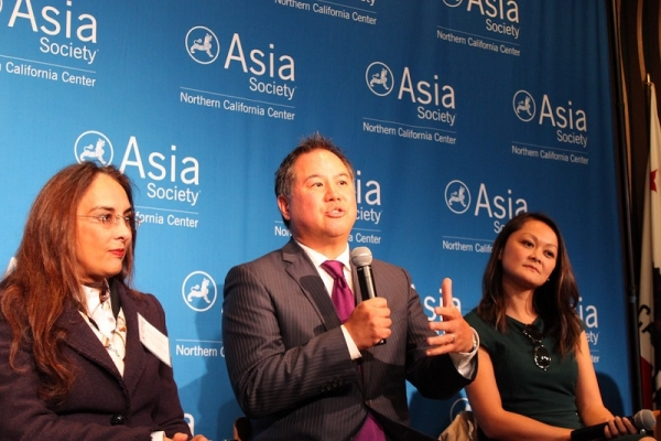Assemblymember Phil Ting (center) of California State Assembly for 19th District participated in the panel. (Yiwen Zhang/Asia Society)