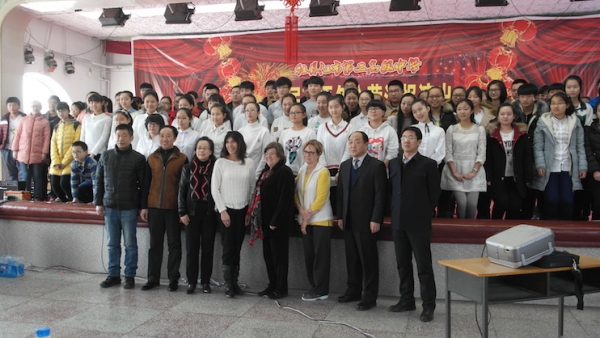 Camp delegation from the first English Winter Immersion Camp at Mudanjiang Number 2 High School in Heilongjiang Province. (Debora L. Nicholson)