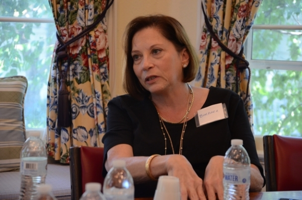 Barbara Rakusin, Executive Director of the Long Island-based community services center Youth and Family Counseling Agency, spoke about the work her organization does. (Jenny Xu)