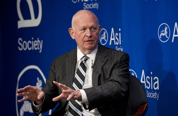 Michael Pillsbury speaks at Asia Society New York on April 7, 2015.