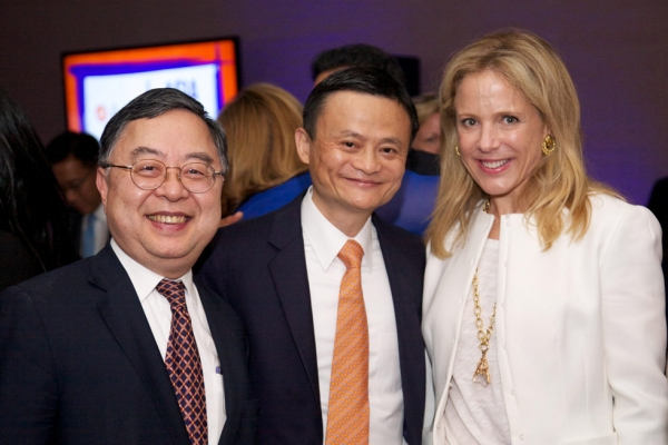 Ronnie Chan, Jack Ma, and Stephanie Foster. (Ann Billingsley/Asia Society)