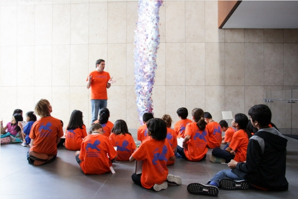 "Campers were given a tour of the Grand Hall exhibition ""Yuriko Yamaguchi."" (Nikki Tripp)"