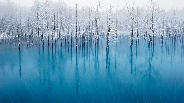 "Kent Shiraishi's ""Blue Pond"" was chosen by Apple as one of its desktop backgrounds and won Honorable Mention in last year's National Geographic Photo Contest. (Kent Shiraishi)"
