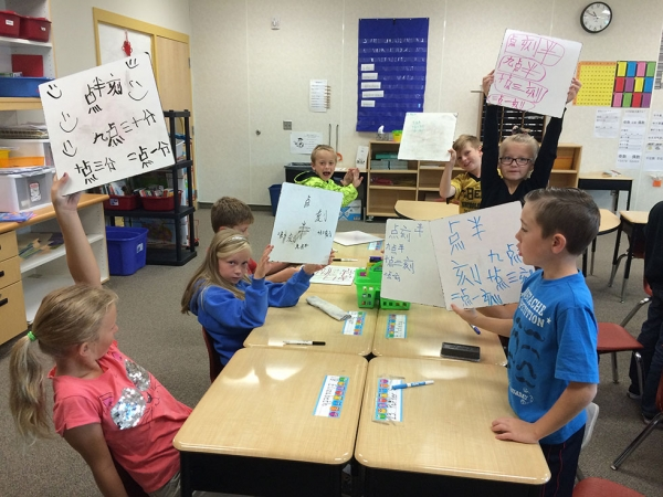 Telling time with words in 3rd grade.