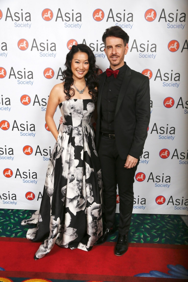 From left, hosts actors Kara Wang and Jeff Locker arrive during the 2016 U.S.-China Film Gala Dinner held at the Millennium Biltmore Hotel on Wednesday, November 2, 2016, in Los Angeles, California.
