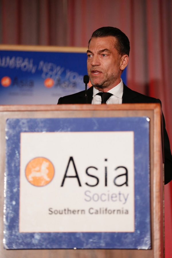 Paul Steinke speaks during the 2016 U.S.-China Film Gala Dinner held at the Millennium Biltmore Hotel on Wednesday, November 2, 2016, in Los Angeles, California.