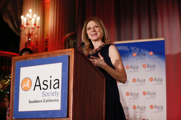 Dawn Hudson, CEO of the Academy of Motion Picture Arts and Sciences speaks during the 2016 U.S.-China Film Gala Dinner held at the Millennium Biltmore Hotel on Wednesday, November 2, 2016, in Los Angeles, California.