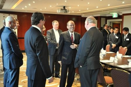 L to R: Hon Warwick Smith, Asia Society Australia, President Aquino and Mike Smith, Australia and New Zealand Banking Group.