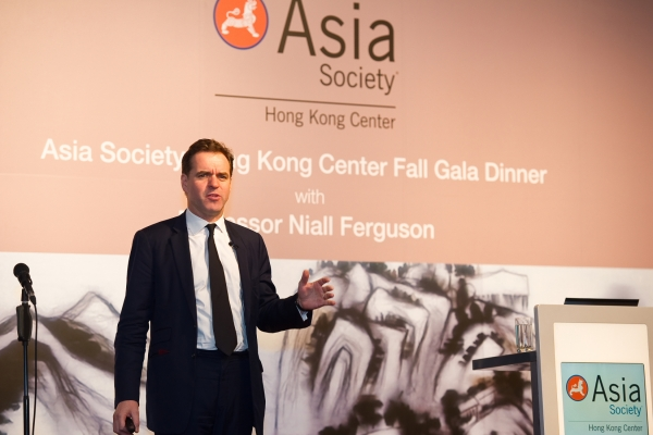Niall Ferguson delievered a keynote address at the Asia Society Hong Kong Center Fall Gala Dinner on November 21, 2012. (Asia Society Hong Kong Center)