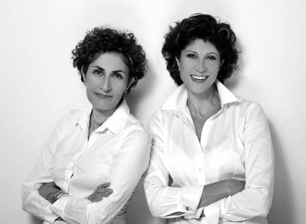 Gisue Hariri (R) and Mojgan Hariri (L), sisters and co-founders of the multidisciplinary architecture and design firm Hariri & Hariri. (Karin Kohlberg)