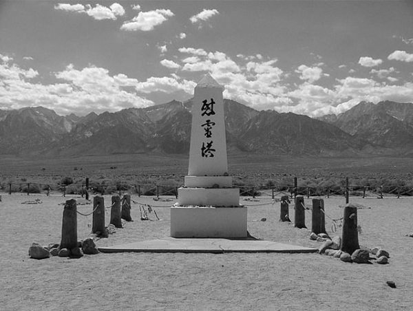 This monument at the Manzanar National Historic Site in California was established to commemorate the internment of nearly 120,000 Japanese Americans during World War II. (manyhighways/flickr)