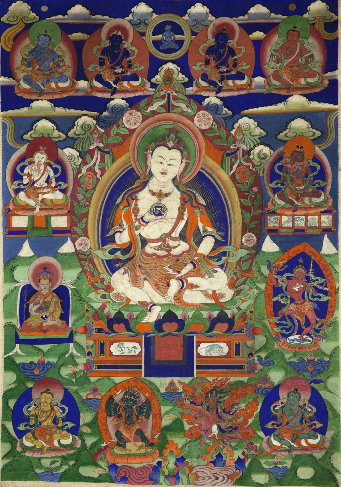 "Bon Deity Tsewang Rigzin. 19th century. Possibly Amdo (East Tibet). Tradition: Bon. Pigments on cloth. MU-CIV/MAO ""Giuseppe Tucci,"" inv. 922/755. Image courtesy of the Museum of Civilisation/Museum of Oriental Art ""Giuseppe Tucci,"" Rome."