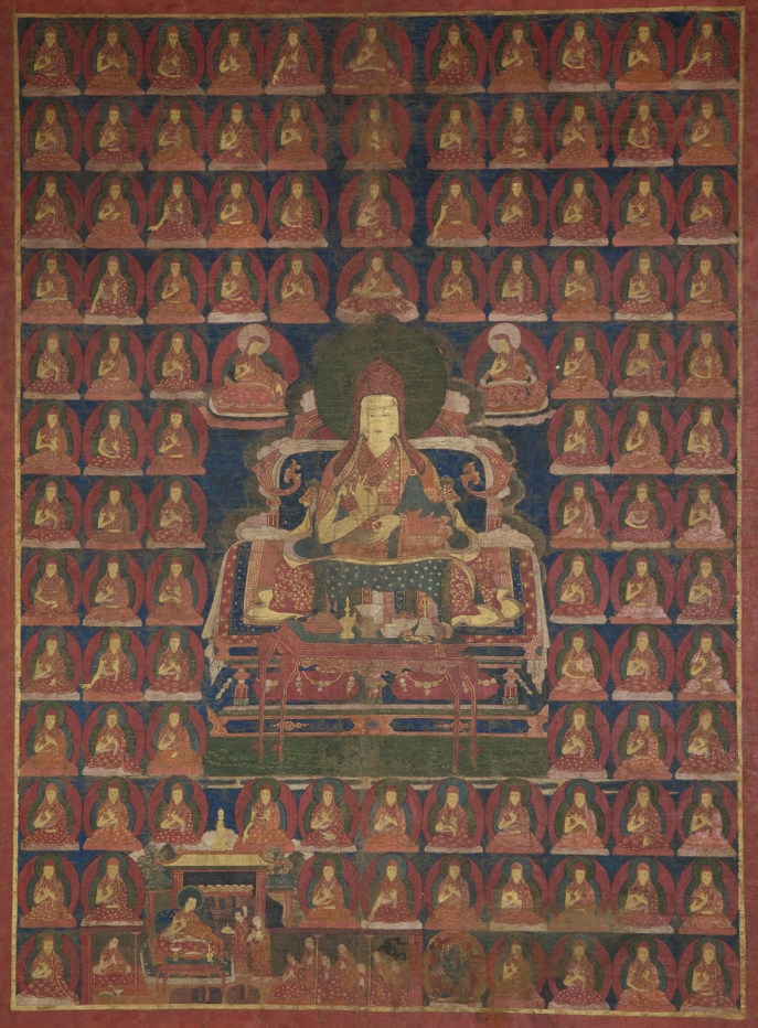 "Buton Rinchendrub. 16th century. Shalu Monastery, Shigatse, Tsang (South-Central Tibet). Tradition: Sakya. Pigments on cloth. MU-CIV/MAO ""Giuseppe Tucci,"" inv. 994/827. Image courtesy of the Museum of Civilisation/Museum of Oriental Art ""Giuseppe Tucci,"" Rome."