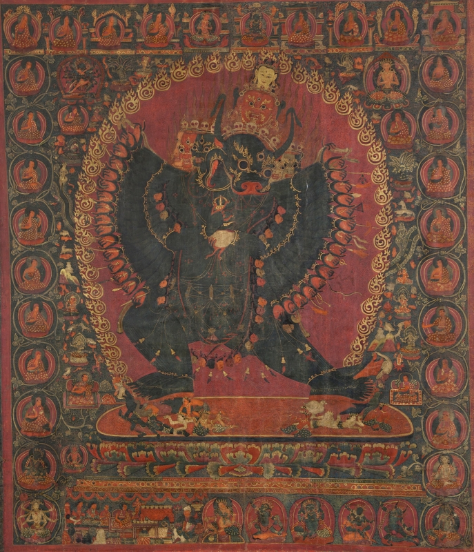 "Dorje Jigje. 15th century. Narthang, Tsang (South-Central Tibet). Tradition: Sakya. Pigments on cloth. MU-CIV/MAO ""Giuseppe Tucci,"" inv. 941/774. Image courtesy of the Museum of Civilisation/Museum of Oriental Art ""Giuseppe Tucci,"" Rome."