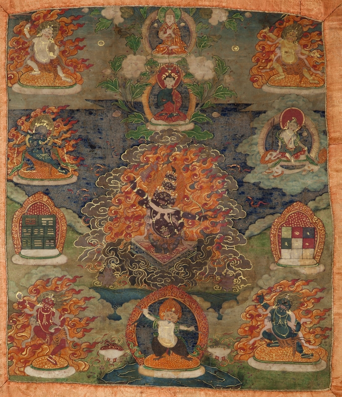 "Rahu. 19th century. Tibet. Tradition: Gelug. Pigments on cloth. MU-CIV/MAO ""Giuseppe Tucci,"" inv. 946/779. Image courtesy of the Museum of Civilisation/Museum of Oriental Art ""Giuseppe Tucci,"" Rome."
