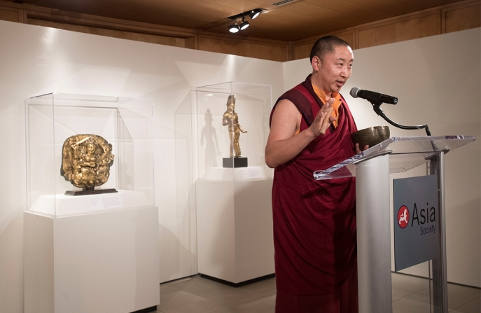 Unknown Tibet: The Tucci Expeditions and Buddhist Painting opening blessing