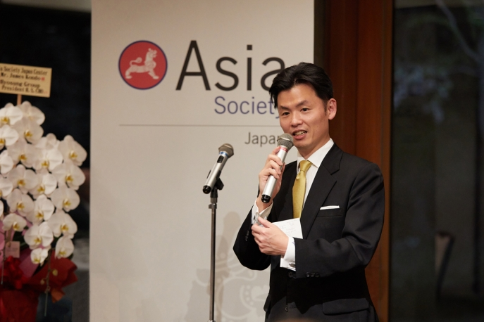 James Kondo speaks at the launch of Asia Society's Japan Center