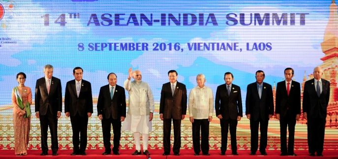 Heads of state at the 14th ASEAN-India Summit