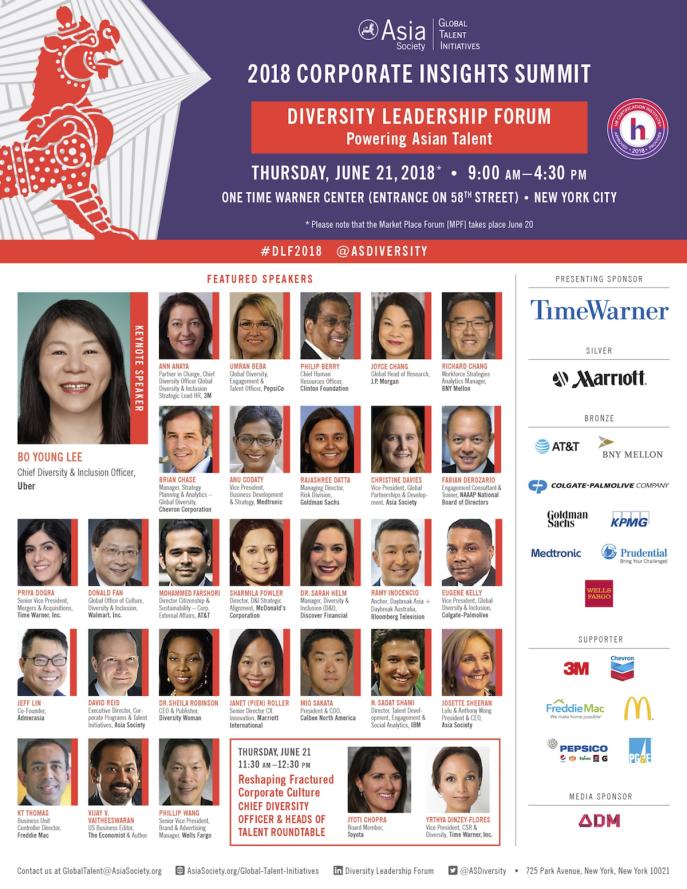 2018 Diversity Leadership Forum Agenda | Asia Society