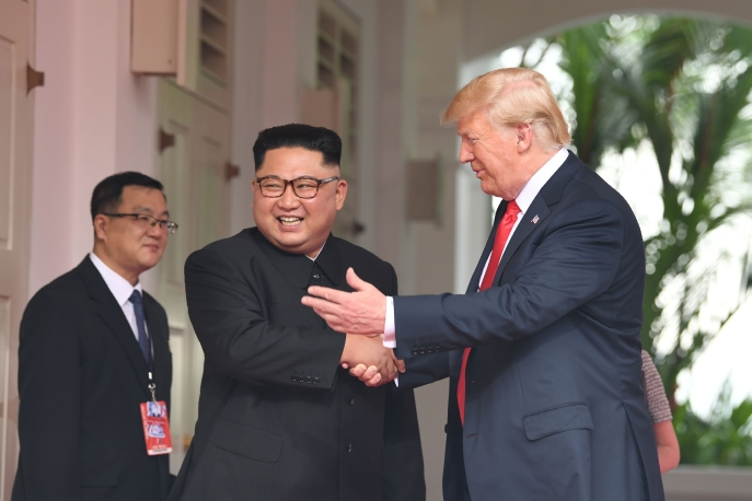 Donald Trump and Kim Jong Un in Singapore for summit meeting