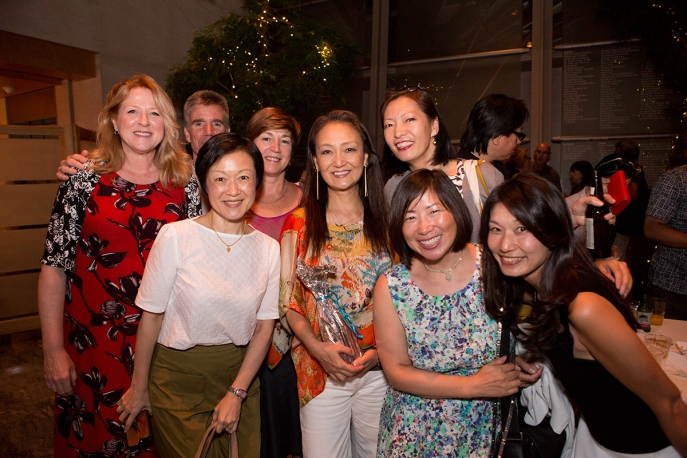 'Whale of a Tale' filmmaker Megumi Sasaki with screening attendees at Asia Society New York