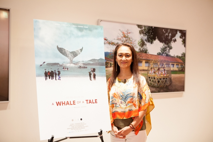 Filmmaker Megumi Sasaki at Asia Society New York's screening of A Whale of a Tale