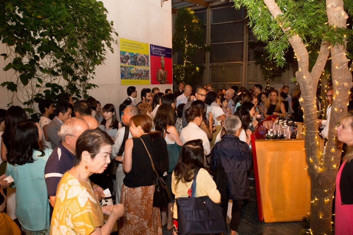 Attendees at the reception for 'A Whale of a Tale' at Asia Society New York