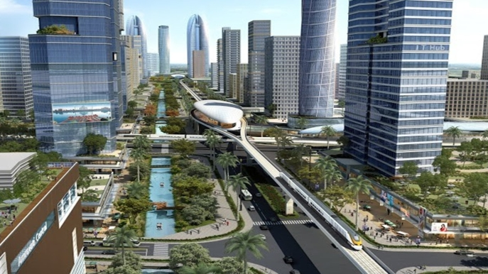 Rendering of the Amaravati Smart City